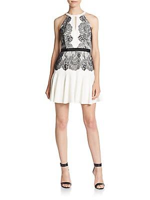Leyla Lace Halter Dress
