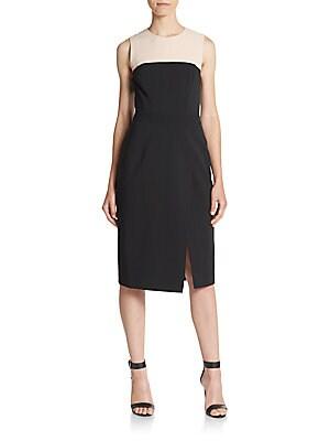 Contrast Yoked Dress