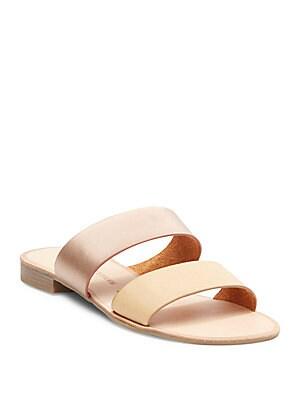 Gimme Metallic Slide Sandals