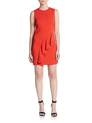 Clarence Asymmetrical Ruffle Dress