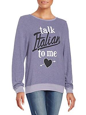 Talk Italian Graphic Sweatshirt