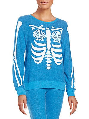 Mermaid X-Ray Graphic Sweatshirt
