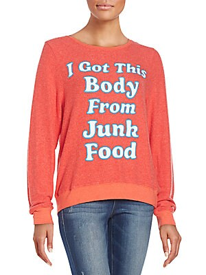 Junk Food Body Graphic Sweatshirt