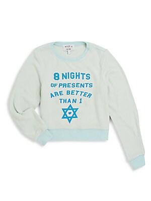 Little Girl's 8 Nights Of Presents Sweatshirt