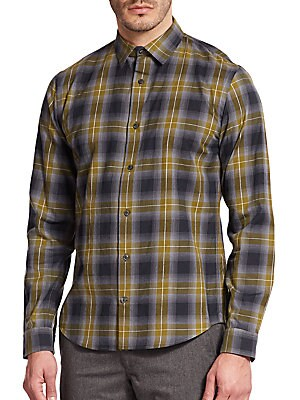Melrose Plaid Cotton Sportshirt