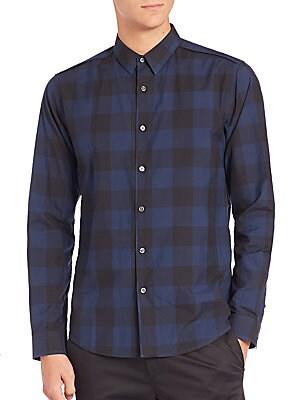Gingham Cotton Sportshirt