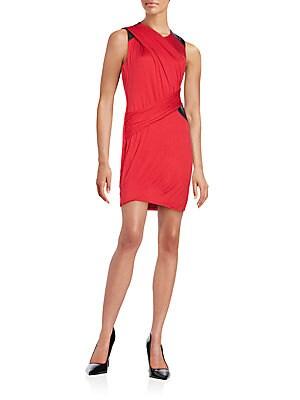Leaf Devil Colorblock Dress