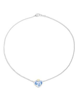 Click here for Blue Quartz  White Sapphire  Sterling Silver & 18K... prices