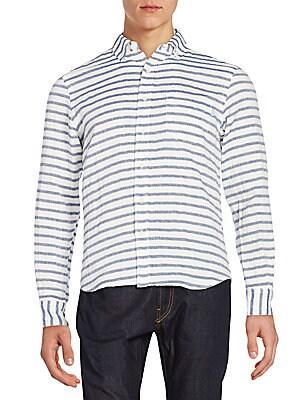 Constance Striped Cotton Sportshirt