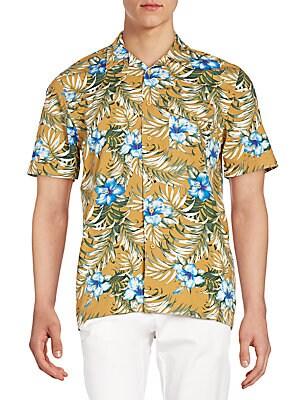 Regular-Fit Martin Floral-Print Sportshirt