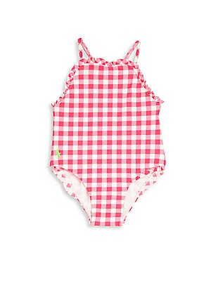 Baby Girl's One-Piece Gingham Swimsuit
