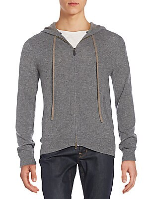Regular-Fit Cashmere Hoodie