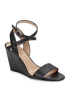 Lennox Leather Wedge Sandals