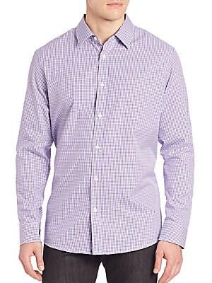 michael kors female andre check shirt