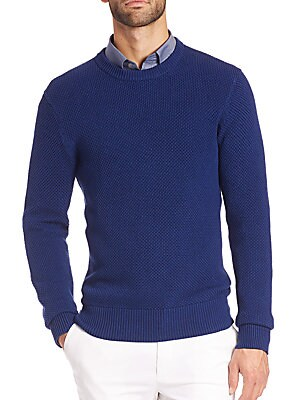 michael kors male 236621 cotton crewneck sweater
