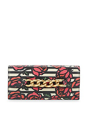 Rose Print-Leather Wallet