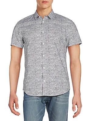 Slim-Fit Short-Sleeve Cotton Sportshirt