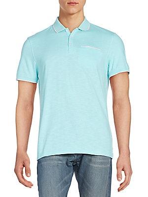 Regular-Fit Contrast-Trim Cotton Polo Shirt