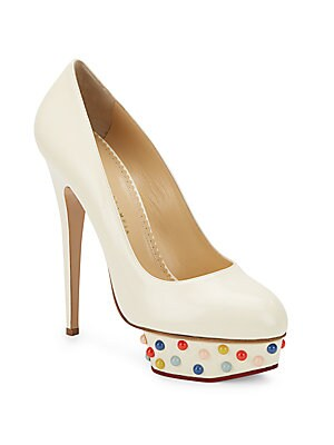 Dolly Studded-Platform Leather Pumps