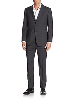 Regular-Fit Stretch Wool Suit