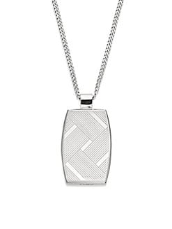 Eclipse Stainless Steel Pendant Necklace