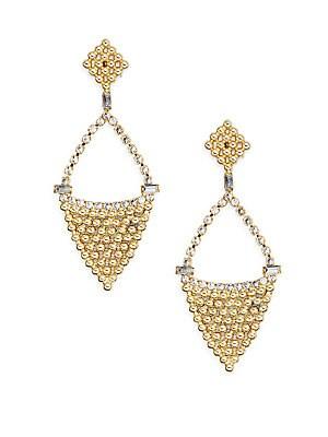 Pre-Fall 2015 Greta Swarovski Crystal Drop Earrings