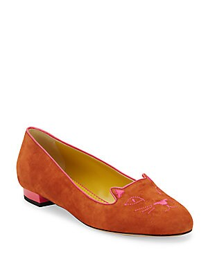 Suede Kitty Flats