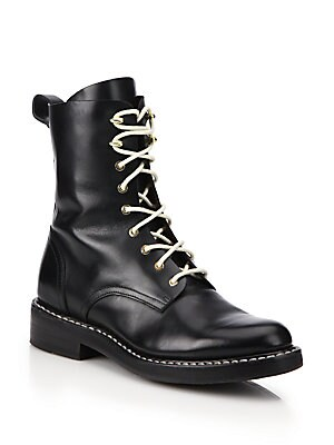 Emil Leather Combat Boots