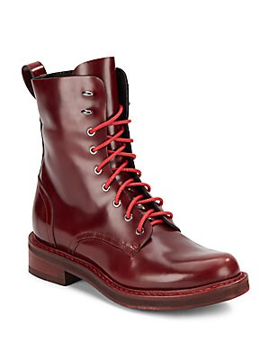 Emil Combat Lace-Up Leather Boots