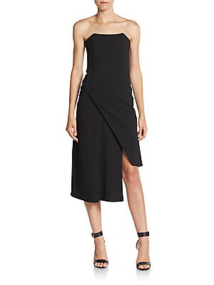 Bonded Crepe Wrap-Front Dress