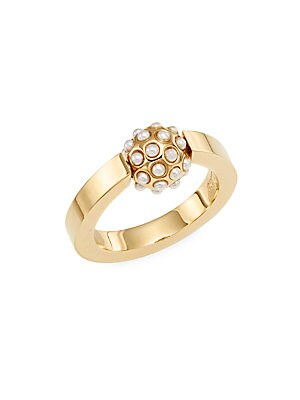 Darcey Faux Pearl Sphere Ring