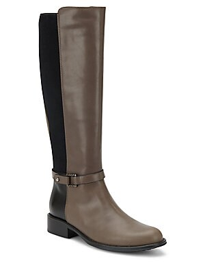 Udelle Leather Paneled Tall Boots