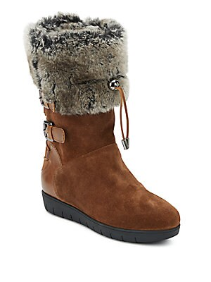 Westley Faux Fur-Lined Suede & Leather Boots