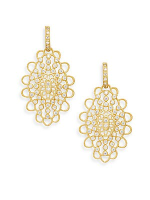 Pavé Crystal Chandelier Drop Earrings