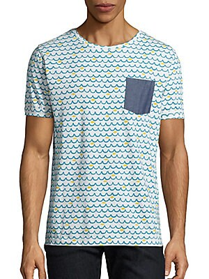 Wave-Print Pocket Tee