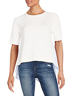 Solid Ribbed Roundneck Top