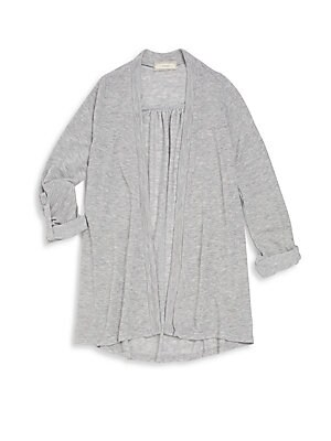 Girl's Heathered Cardigan