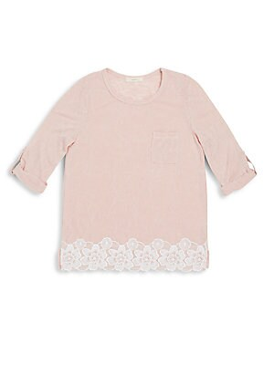 Girl's Lace Embroidered Top