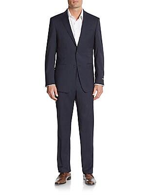 michael kors male 236621 regularfit wool suit