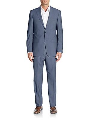michael kors male 201920 regularfit sharkskin wool suit