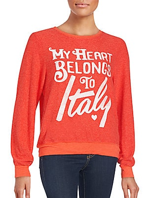 My Heart Belongs To Italy Graphic Sweatshirt