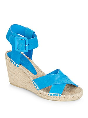 vince female stefania suede espadrille wedge sandals