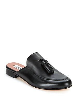 Anelie Tassel Leather Mules