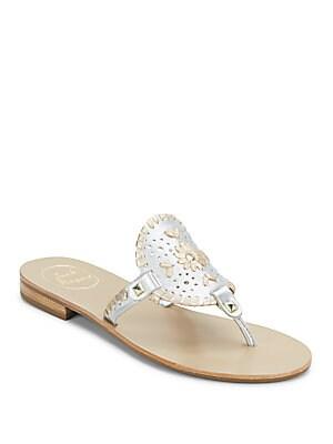 Georgica Metallic Leather Sandals