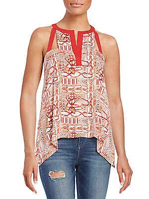 Clementine Printed Cutout Tank