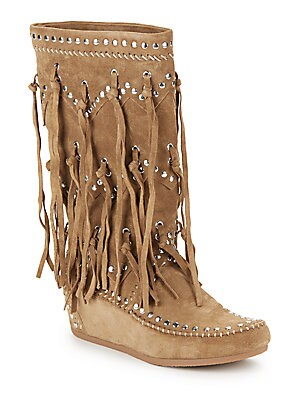 Shilo Fringed Suede Boots