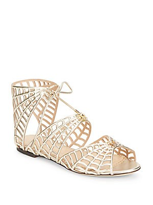 Miss Muffet Metallic Leather Sandals