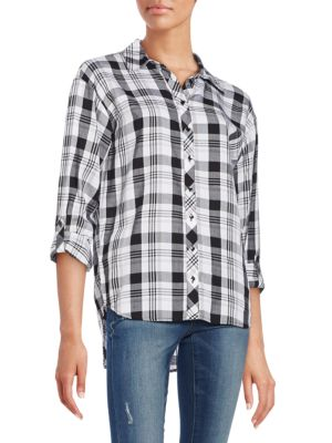 Relaxed-Fit Plaid Shirt