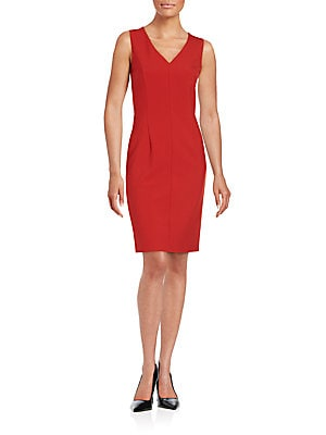 Solid Sheath Dress