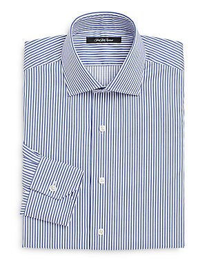 Thomas Mason Cotton Slim-Fit Bengal Striped Dress Shirt